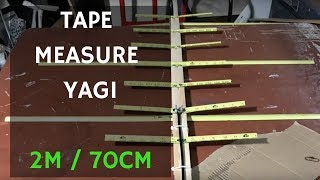 Satellite Yagi 2m 70cm Tape Measure Antenna - Hombrew DIY Cheap - KM6JUR