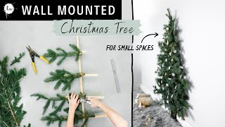 Small Space Easy Christmas Tree Tutorial - ( DIY Space Saving Tree)
