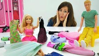 Barbie y Ken van de compras a la Tienda. Vídeos para niñas