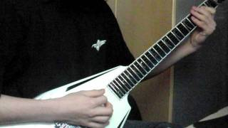 Children of Bodom - Wrath within (Guitar cover, whit both solo's)