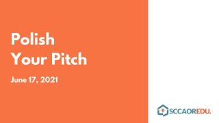 Polish Your Pitch – June 17, 2021