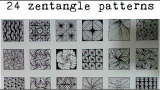 24 zentangle patterns || 24 Doodle Patterns, Zentangle Patterns, Mandala Patterns part - 3