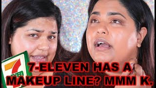 I TRIED A FULL FACE OF 7-ELEVEN MAKEUP AND LETS SAY