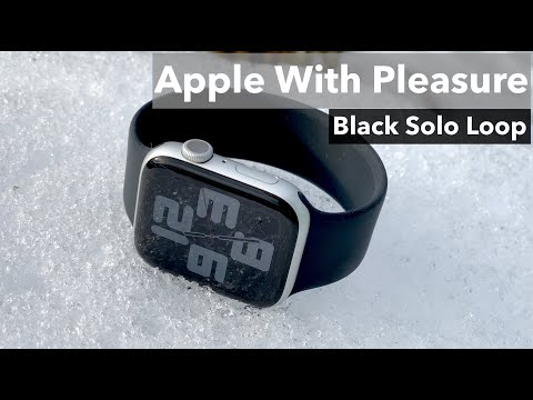 Black Solo Loop - Apple Watch Band