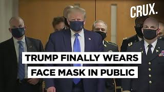 Donald Trump Trolled After He Wears Mask For The First Time In Public - Download this Video in MP3, M4A, WEBM, MP4, 3GP