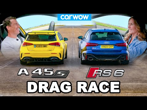 Audi RS6 vs AMG A45 S: DRAG RACE *Me vs My Girlfriend*