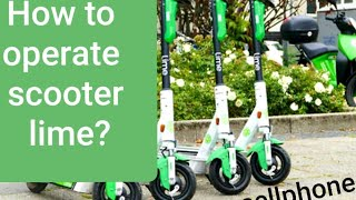 How to unlock scooter lime with cellphone apps?