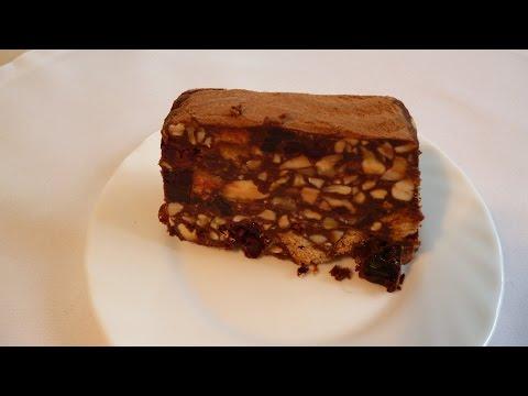 Шоколадный торт - полено без выпечки
