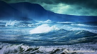 Rain Sounds for Relaxation with Ocean Waves | Sleep or Study with Nature White Noise | 10 Hours