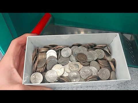 Cashing in TONS of Quarters at Coinstar