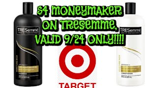 Target Couponing:  $4 Tresemme MONEYMAKER.....valid 9/24 ONLY!