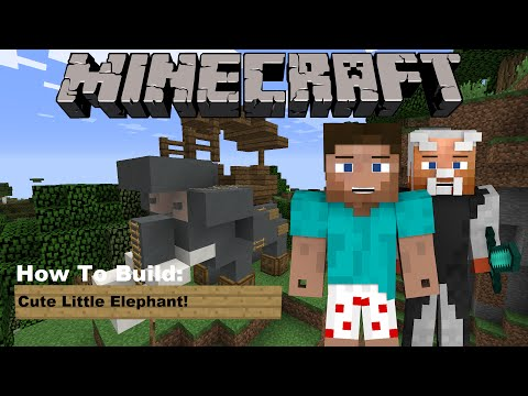 Minecraft Tutorial: How to build a Cute Little Elephant Minecraft