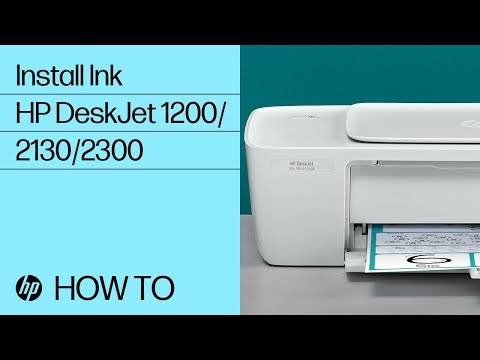 Installing Ink in the HP DeskJet 1200, 2130, Ink Advantage 1200, and 2300 All-in-One Printer Series