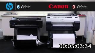 Canon iPF670 vs HP DJ T520