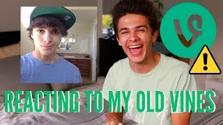 Reacting to my Old Vines!! | Brent rivera
