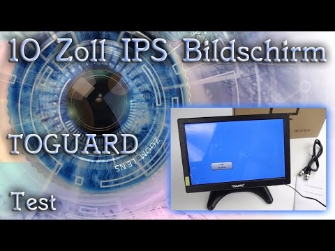 Test - Review - Toguard 10 Zoll IPS LED Bildschirm HDMI / 4K