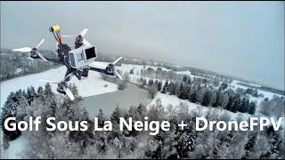 Un Golf Sous La Neige Et Un Drone FPV