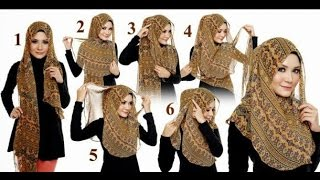 """Beautiful Hijab Tutorial ♚  Tutorial Hijab 2016 : """"Tutorial Hijab for weekend"""""""
