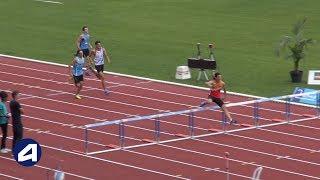 Bondoufle 2018 : Finale 400 m haies Cadets (Martin Fraysse en 51''84)