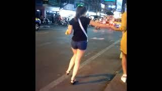 Totally drunk girls in Walking Street, Pattaya