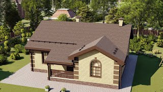 Проект дома 105-A, Площадь дома: 105 м2, Размер дома:  11,8x11,4 м