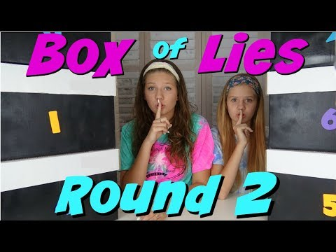 BOX OF LIES CHALLENGE ROUND 2 || Taylor and Vanessa