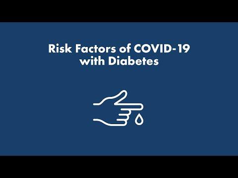 Risk Factors of COVID-19 with Diabetes