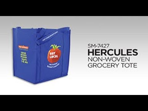 9e7f419be Hercules Non-Woven Grocery Tote - SM-7427 - Bullet