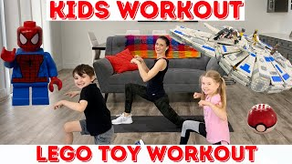 Kids Workout / LEGO TOYS Kids Workout Videos! (age 3 -10)