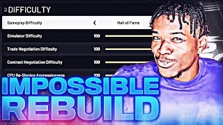 I tried the IMPOSSIBLE REBUILD one last time before 2k20 comes out...
