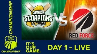 Jamaica v T&T Red Force - Day 1 | West Indies Championship | Thursday 10th January 2019