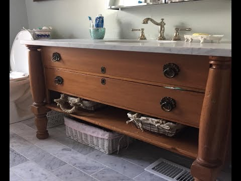 Converting Antique Dresser To Bathroom Vanity The Handyman Beatrice Barrentine Blog