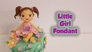 Little Girl Fondant Cake Topper