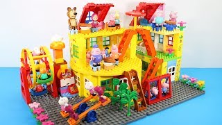 Peppa Pig Building House With Water Slide Toys For Kids - Lego Duplo House Creations Toys #6