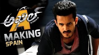Akhil Akkineni Movie Making Video || Spain Schedule
