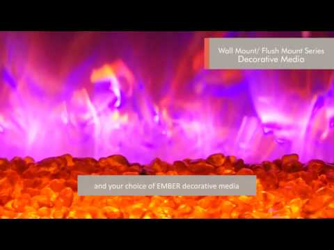 Amantii FIRE & ICE® WM-FM Series of electric fireplaces