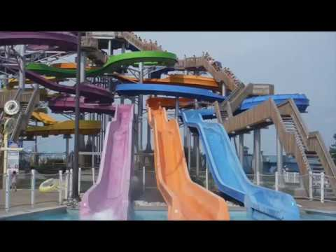Perch Plunge (Orange) @ Cedar Point Shores| Fishy Kamikaze Slide (видео)