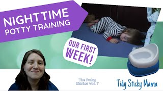 The First Week Wrap-Up | Nighttime Potty Training Tips and How to Start Potty Training at Night