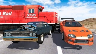 Train Accidents #2 - BeamNG DRIVE | SmashChan