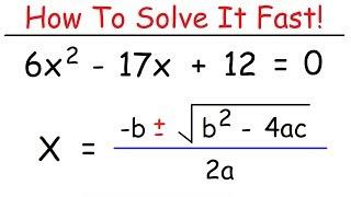 How To Solve Quadratic Equations Using The Quadratic Formula