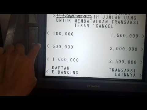 Cara Tarik Tunai di ATM Bca