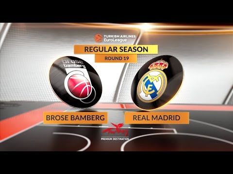 EuroLeague Highlights RS Round 19: Brose Bamberg 89-91 Real Madrid