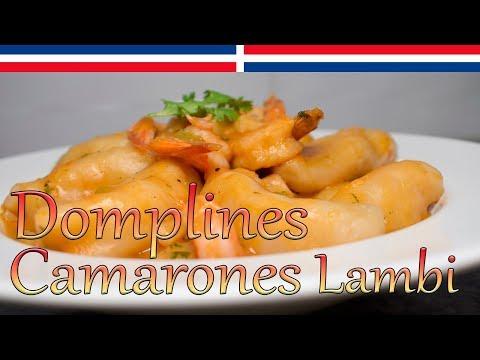 Domplines con Camarones y Lambi - Cocinando con Yolanda