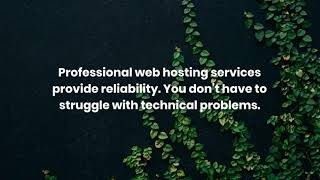 Benefits of Professional Web Hosting Services