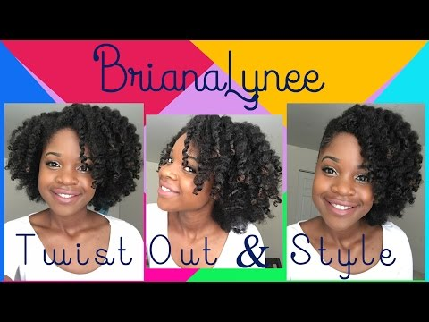 Natural Hair How To Do A Twist Out and Style