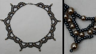 [Pattern/Tutorial] Historical Arc-necklace - DIY (Beads)