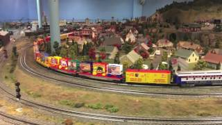 Ringling Bros Circus Train Pulled By MTH Proto 3 J1e Hudson