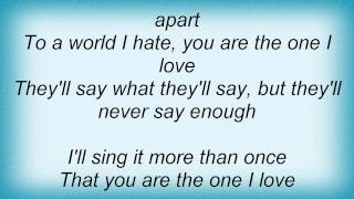 Jon Mclaughlin - You Are The One I Love Lyrics