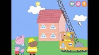 Игры Свинки Пеппы Папа Свин Строим дом ◄ Игры для детей / Game Peppa Pigs