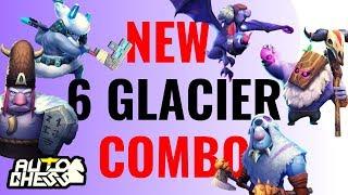 NEW BUILD 6 GLACIER COMBO! | AUTO CHESS MOBILE GAMEPLAY